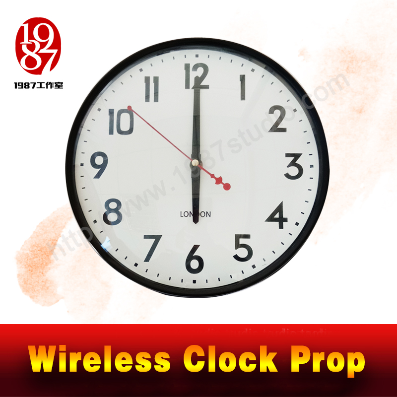 wireless clock escape room prop