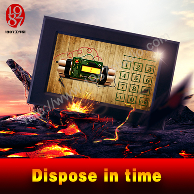 Smart Screen-Dispose in time-timer device for adventurer escape room game prop
