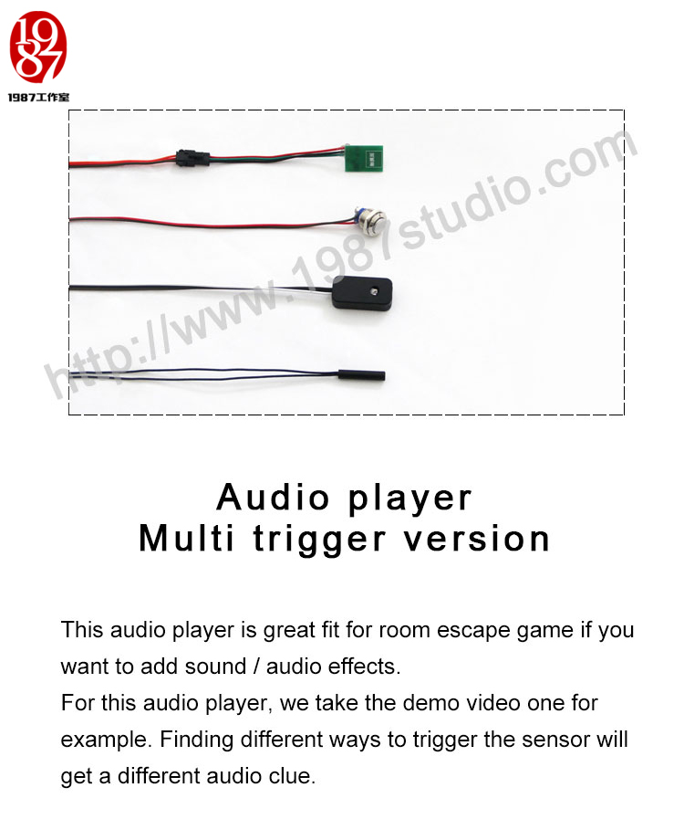 real life room escape game prop Audio player-button edition