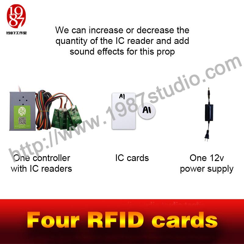 Four RFID Cards - Room Escape Props Manufacturer - 1987 Studio