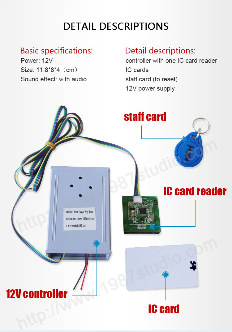 new reality room escape memory IC cards memory pieces