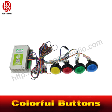 Colorful buttons: plastic button version