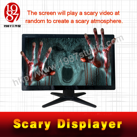 scary displayer-escape room prop from JXKJ1987 showing the puzzle clues from