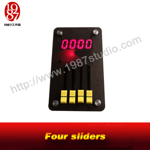 Four sliders-with screen escape room prop adjust to right position to unlock