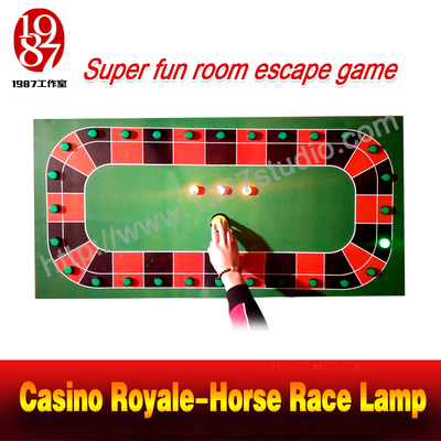 Casino Royale-Horse Race Lamp room escape prop catch the right button to unlock JXKJ1987
