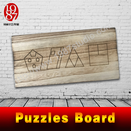 Puzzles board-provide clue for players to solve the puzzle used in escape room from jxkj1987