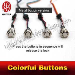Colorful Buttons-metal button version