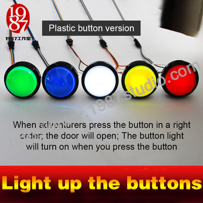 Light up the  buttons-plastic button version