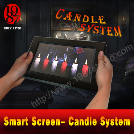 Smart screen-candle system escape room prop jxkj1987