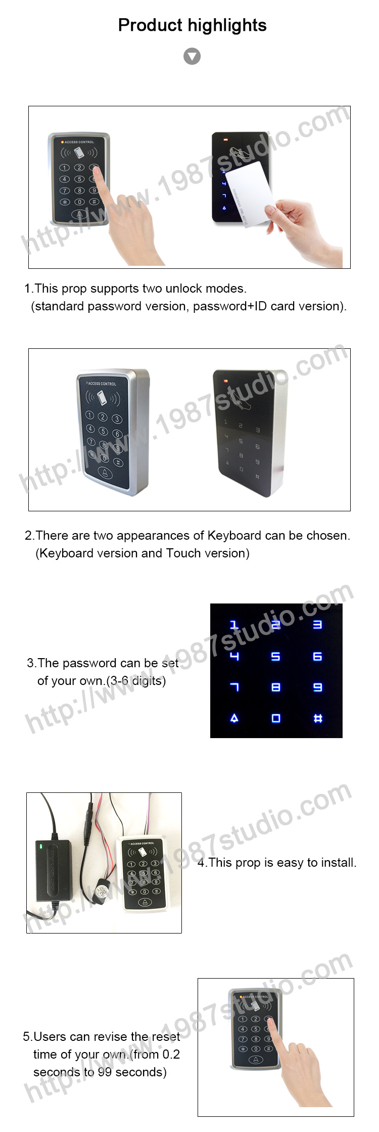 Cipher keyboard escape room prop