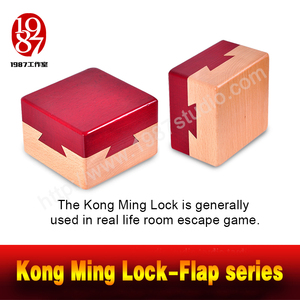 Kong Ming Lock-Flap Series-open it to find out the clue hidden in it escape room prop from JXKJ1987