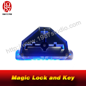 Magic Lock and Key-with audio two keys put the key to the slot to unlock escape room props