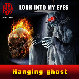 Hanging Ghost-New Halloween Haunted Room Escape KTV bar decoration hanging skeleton ghost horror