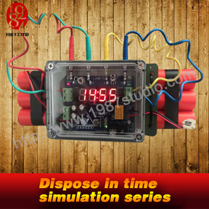 Dispose in time simulation series Timing Bomb Prop---unplug right wire in order to unlock