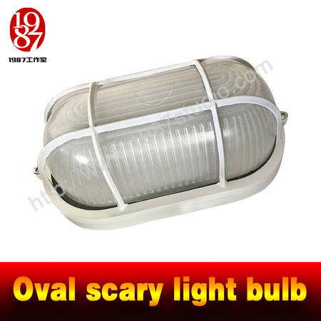 oval scary light bulb