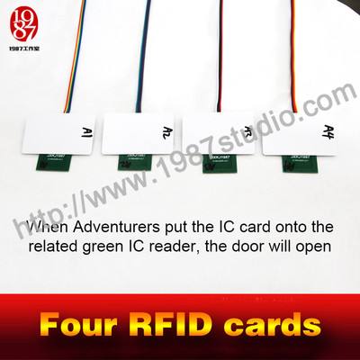 Four RFID cards
